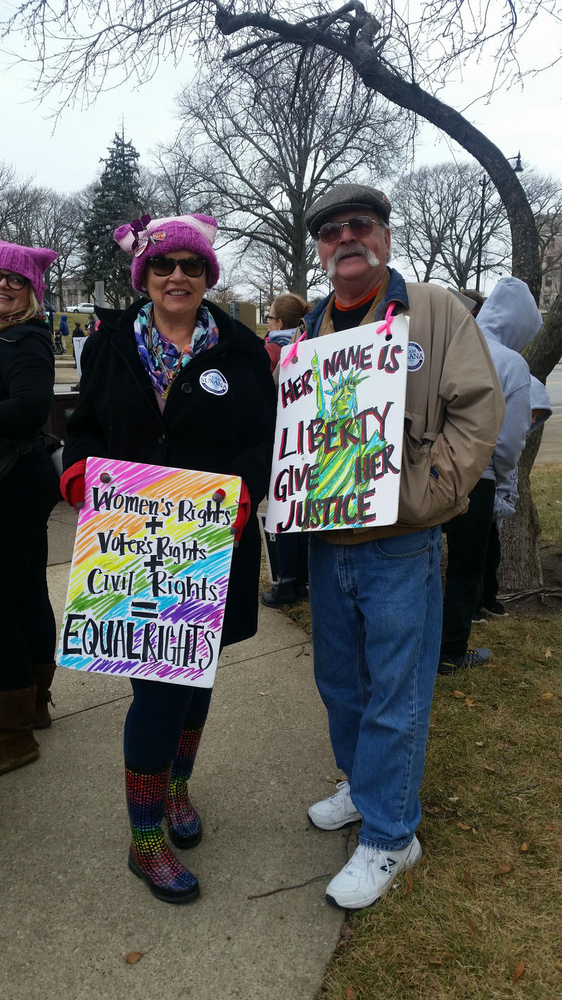 Bobbi and Steve Lehmkuhl from Ottawa, Bobbi attended the women's march in Washington D.C. last year