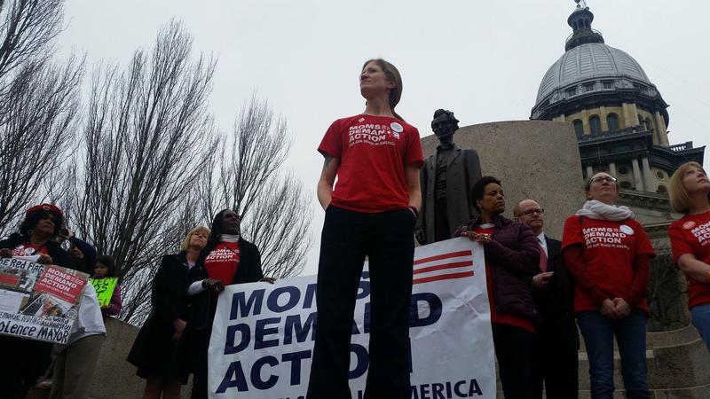 Lauren Quinn (center) Heads the Illinois Chapter of Moms Demand Action for Gun Sense in America