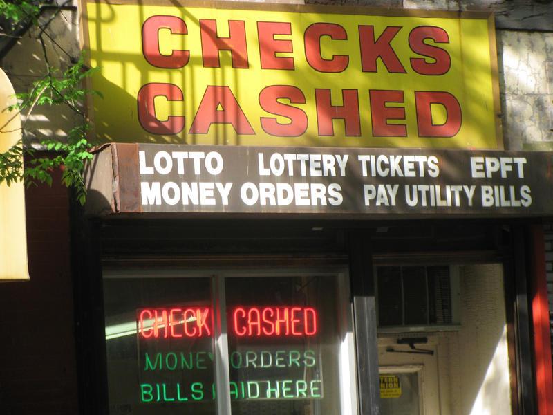 Check cashing signage