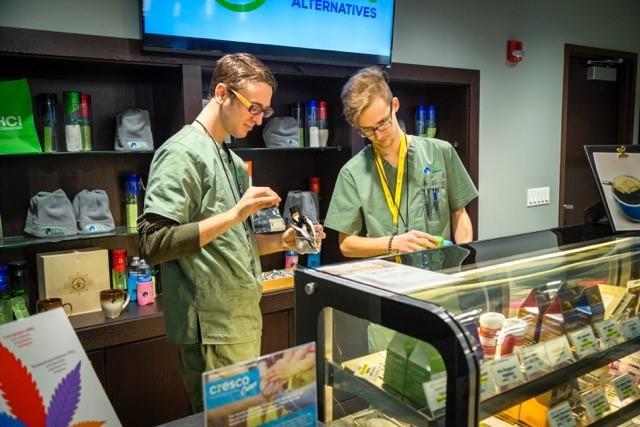 HCI Alternatives medical marijuana shop in Springfield