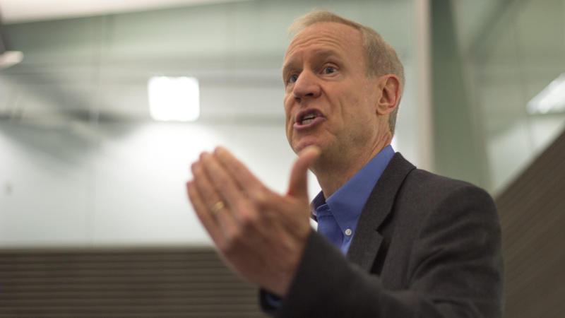 Gov. Rauner at an appearance in 2015