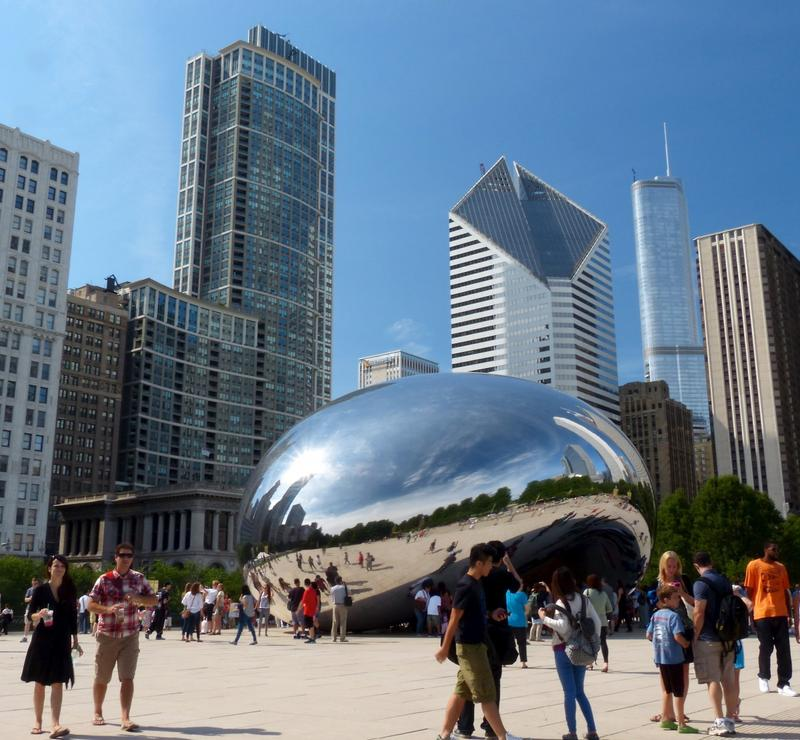 """Cloud Gate, aka """"The Bean"""", a popular destination for visitors to Chicago"""