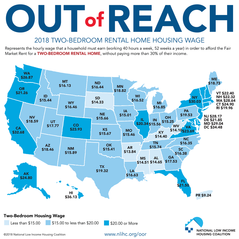 Apartments For Rent Map: Report Targets Unaffordability Of Rent For Minimum Wage