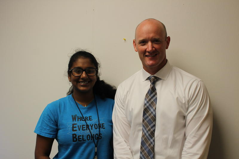 Chandana Poola and Justin Knoedler standing together