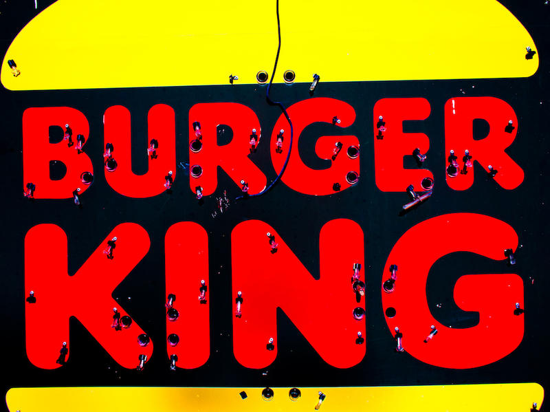 Burger King sign