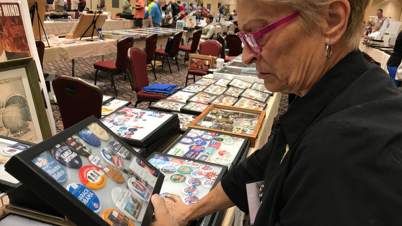 Jeannine Coup, of Lancaster, Pennsylvania, collects home-front and President Theordore Roosevelt items.