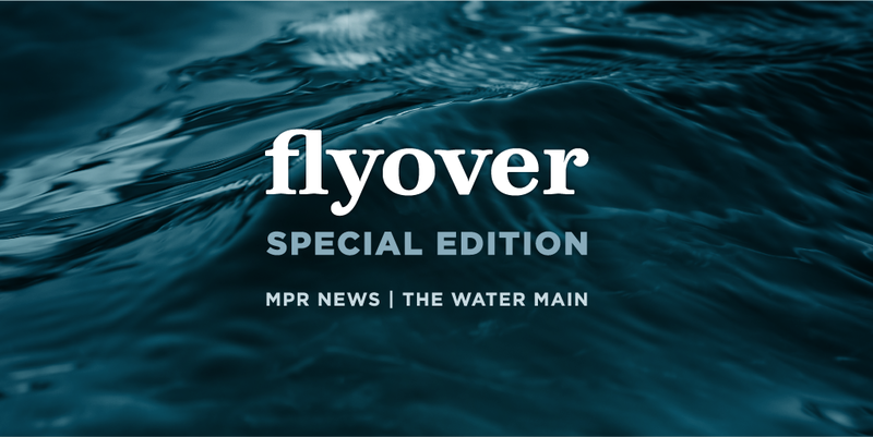 Flyover logo over water