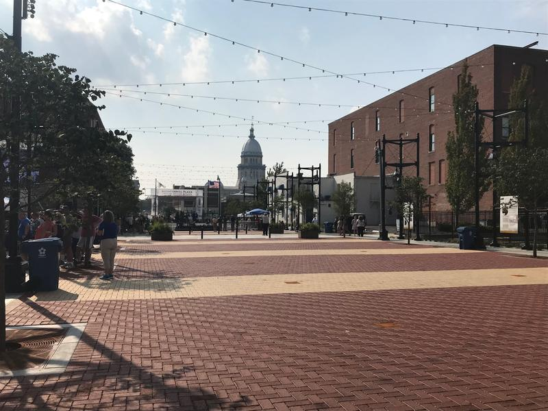 Bicentennial Plaza stretches between Fifth and Sixth streets in Springfield.