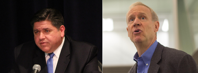 Pritzker and Rauner headshots