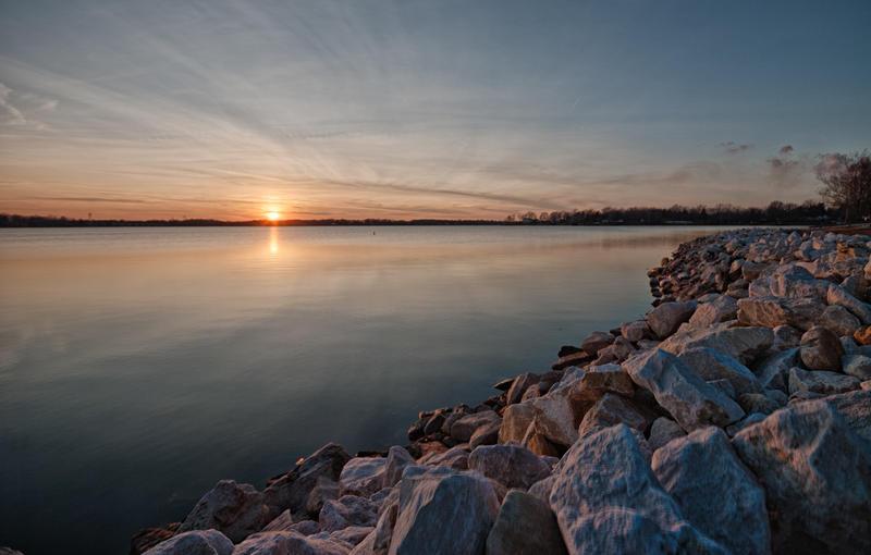 Sunset over Lake Springfield