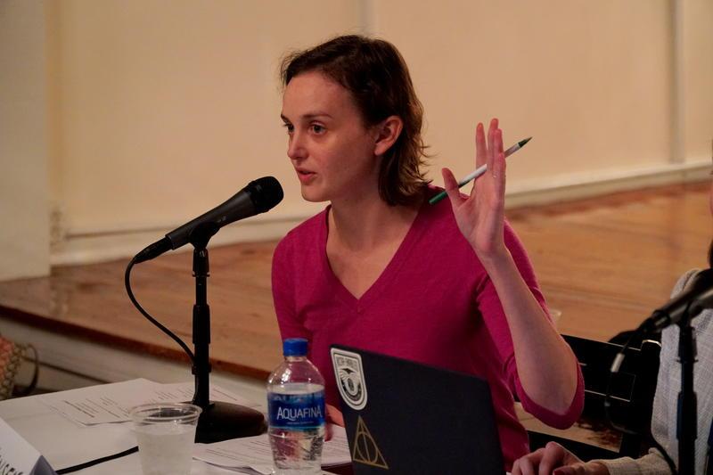 Mary Hansen moderates the conversation.