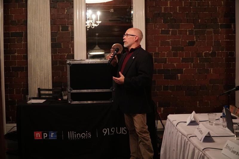 Randy Eccles address audience