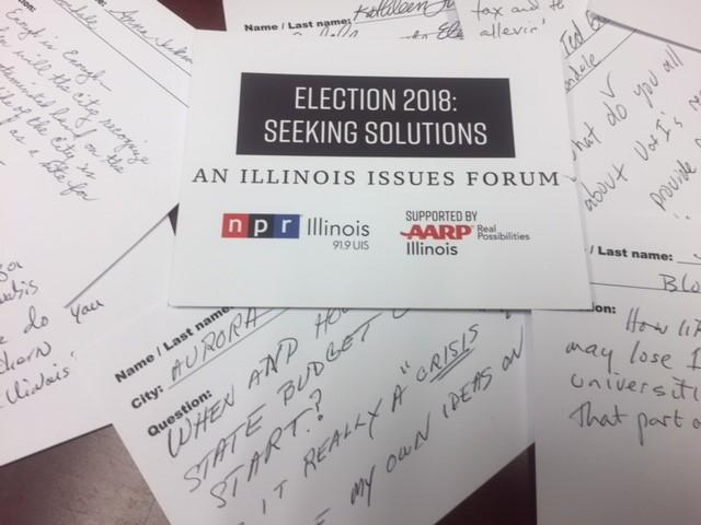 Question cards from Illinois Issues Forums.