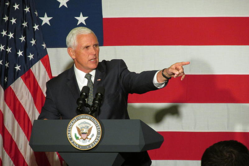 Vice President Mike Pence joined Davis in an attempt to galvanize voters ahead of the midterm election.