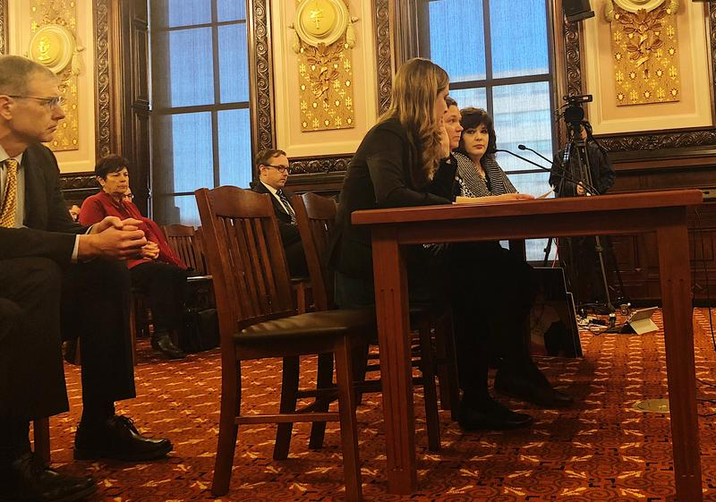 Several Illinois residents Wednesday urged state senators to ban the cancer-causing ethylene oxide used to sterilize medical instruments.