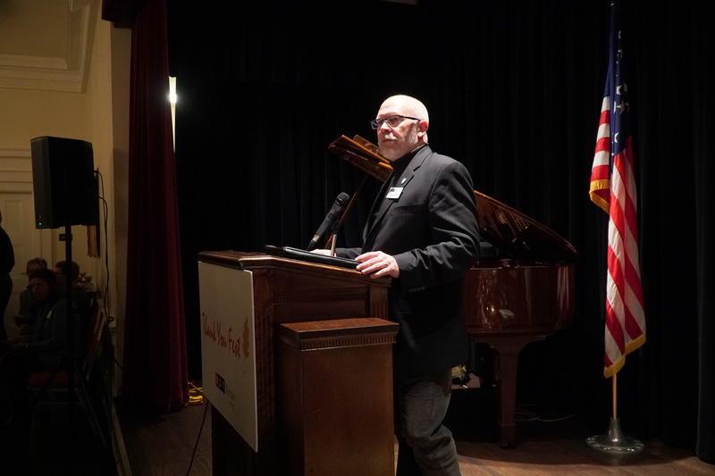 Randy Eccles at podium