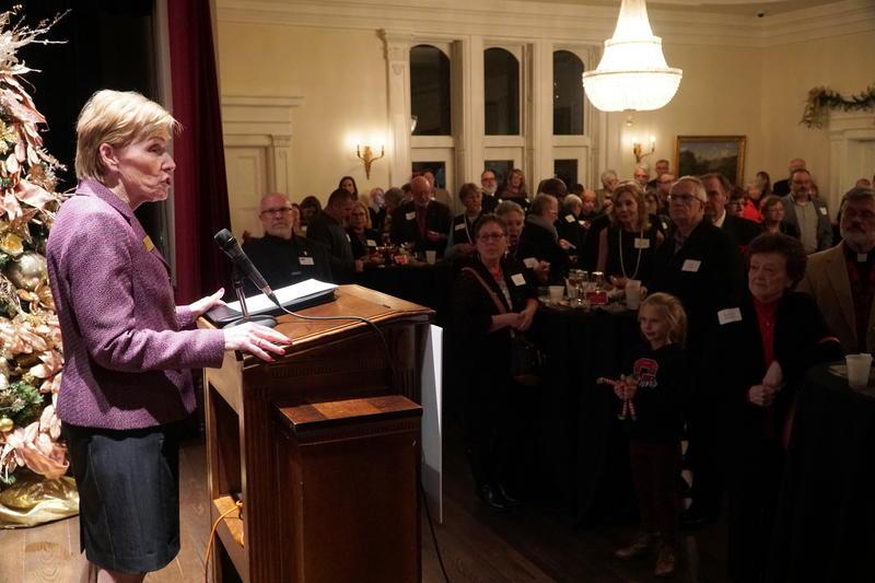 Susan Koch at podium