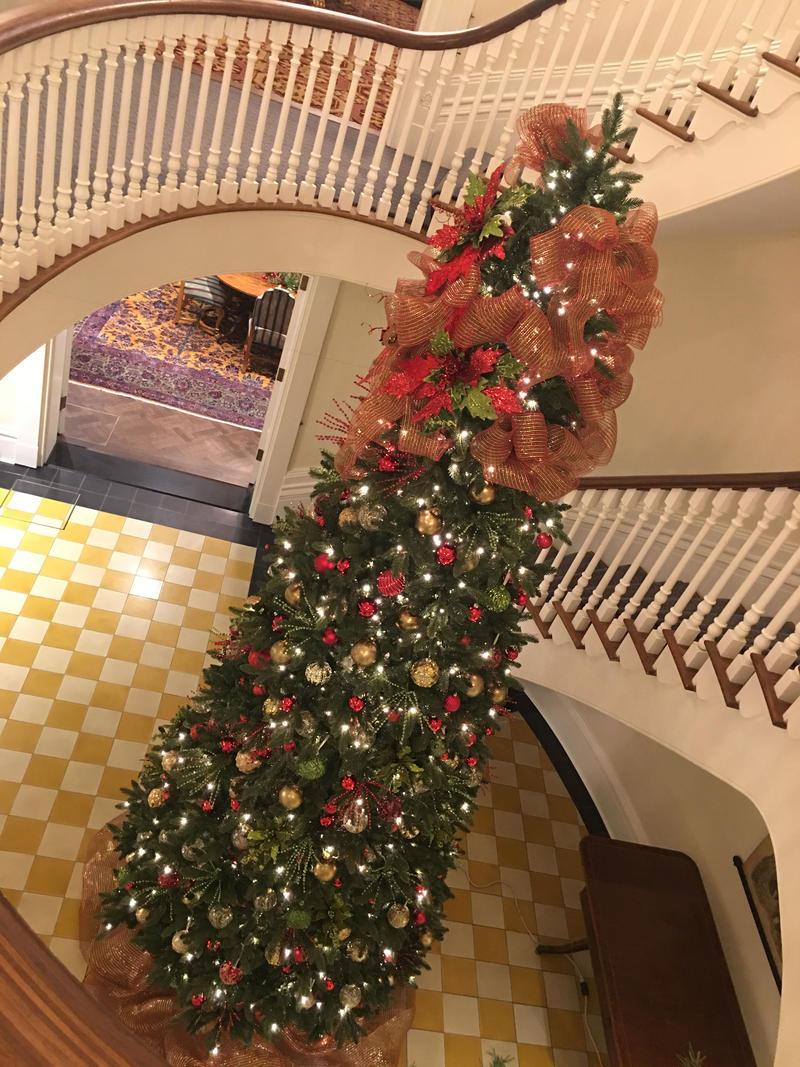 Christmas Tree in Stairwe