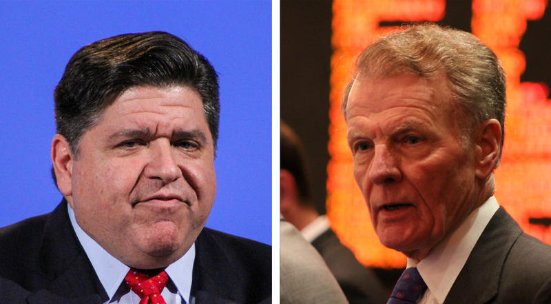 J.B. Pritzker and Michael Madigan