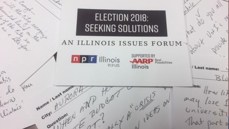 Question cards form Illinois Issues Forums