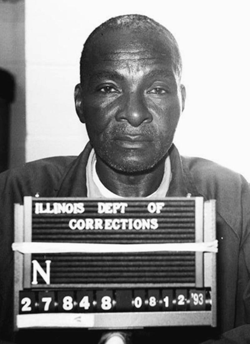 A mugshot of Grover Thompson in 1993. He was in a wheelchair at this point in his sentence. Thompson would go on to serve just three years more before passing away at Menard Correctional Center in Chester, IL.