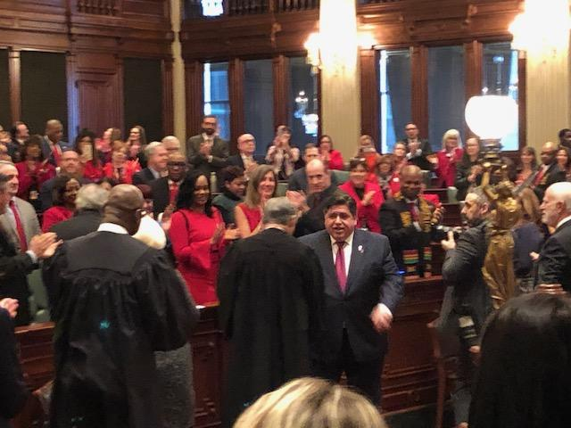 Illinois Governor J-B Pritzker recalled Illinois' darkest days during his first budget address Wednesday. But he's also looking to get beyond the current financial mess — and is calling for higher taxes, now and in the future.