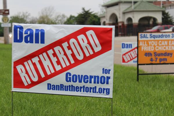 Dan Rutherford campaign sign