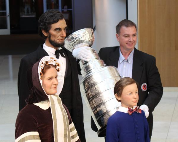 The Stanley Cup was at the Abraham Lincoln Presidential Museum Monday morning.