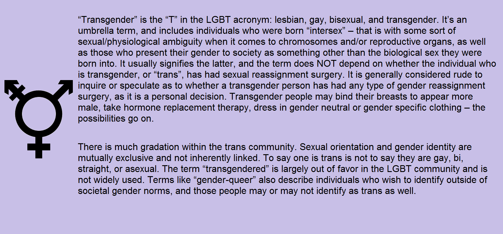 from Levi help for newly transgendered