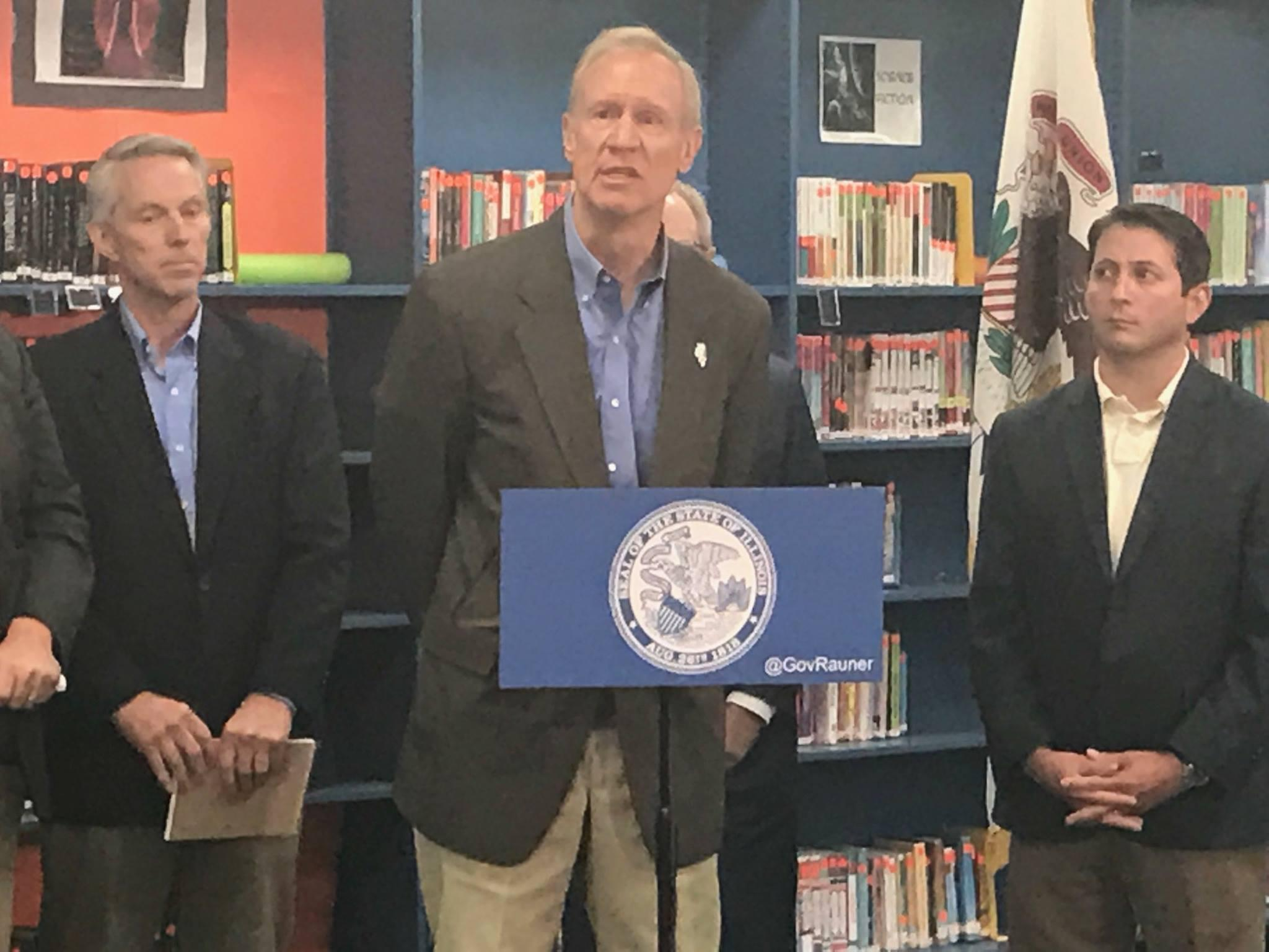 Rauner says he`ll veto money for Chicago teacher pensions