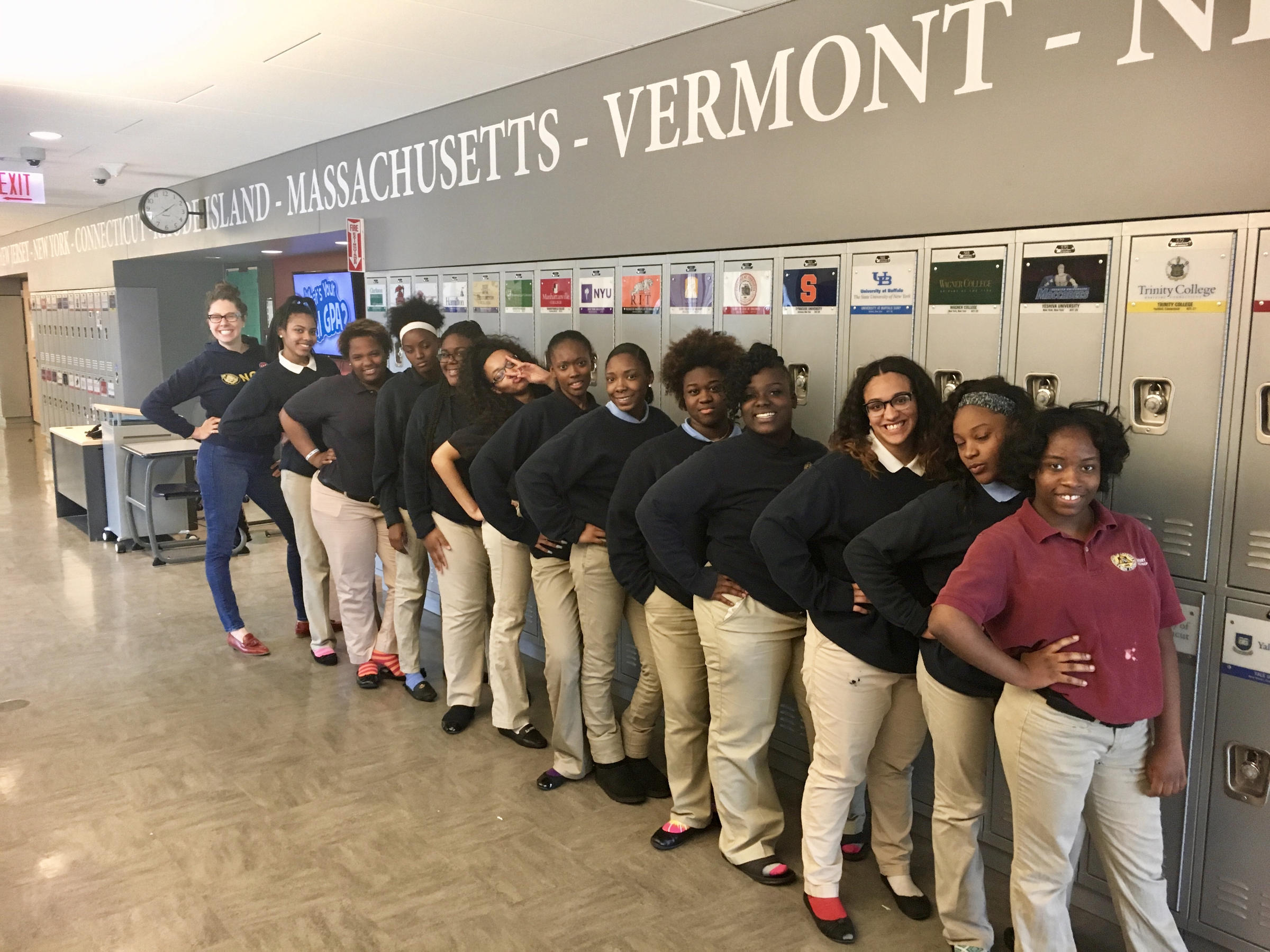 Culture shock teachers call noble charters dehumanizing npr ann baltzer far left posed for a yearbook picture with her advisory students at thecheapjerseys Image collections