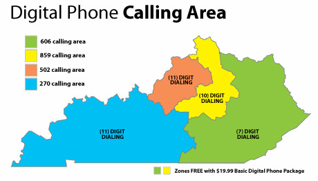 Digit Calling Coming To Kentucky WUKY - 859 area code