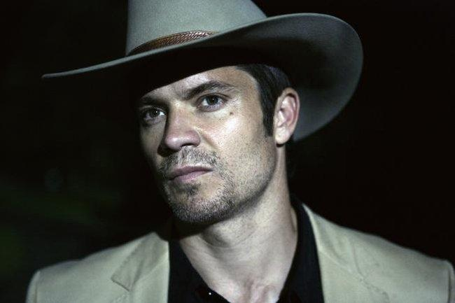 "Timothy Olyphant stars as Raylan Givens, a Deputy U.S. Marshal in the new TV series ""Justified.\"""