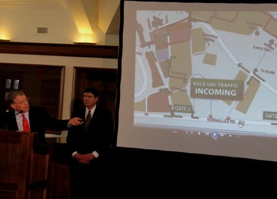 Keeneland President Nick Nicholson discusses some of the details of the track's new traffic plan