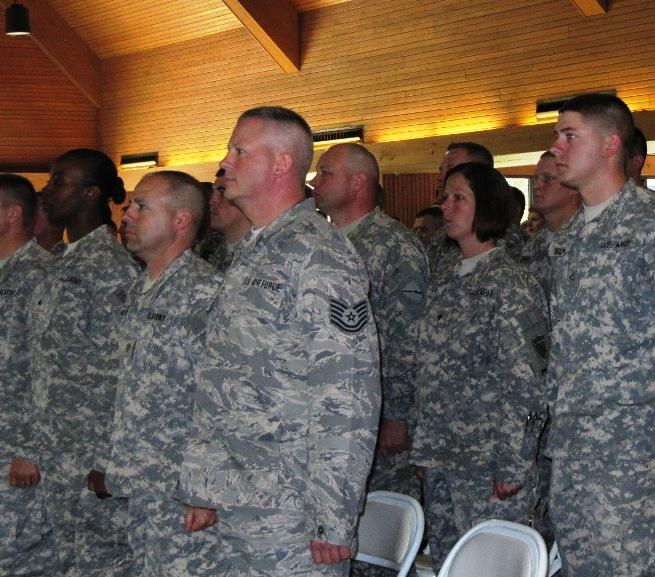 The Kentucky National Guard Agribusiness Development Team was honored in a farewell ceremony Friday.
