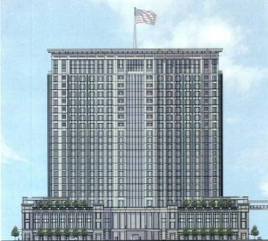 The redesigned CentrePointe tower is now proposed to be 25 stories tall