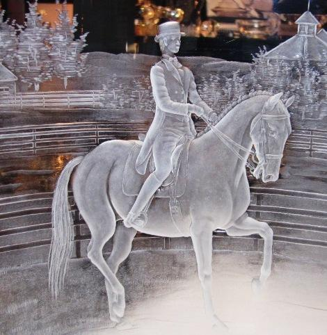 The WEG trophies are engraved crystal made by a company in the Czech Republic -- photo by Brenna Angel