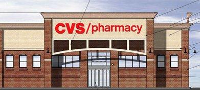 This rendering of the proposed CVS store will be changed. -- Norr Architects