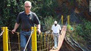 "Harmon Parker and his non profit group ""Bridging the Gap\"" has helped construct 46 bridges in Kenya."