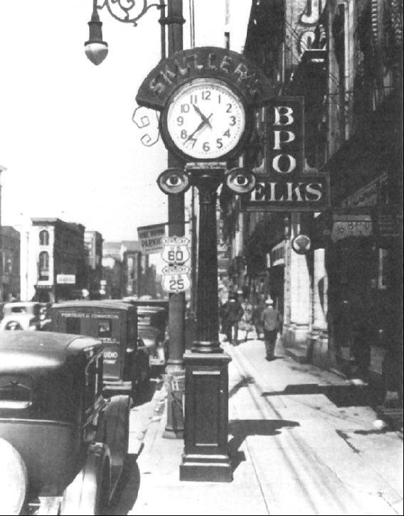 Skuller's street clock circa 1931