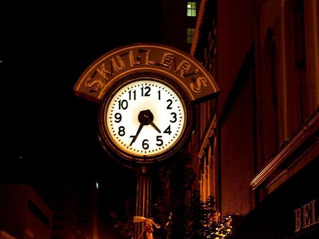 Skuller's street clock - circa 2005