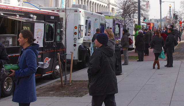 Food trucks in Washington, D.C. - photo by flickr user tedeytan