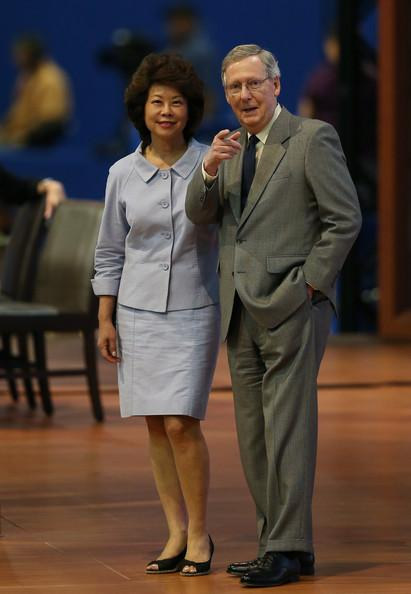 Former U.S. Labor Secretary Elaine Chao and Sen. Mitch McConnell