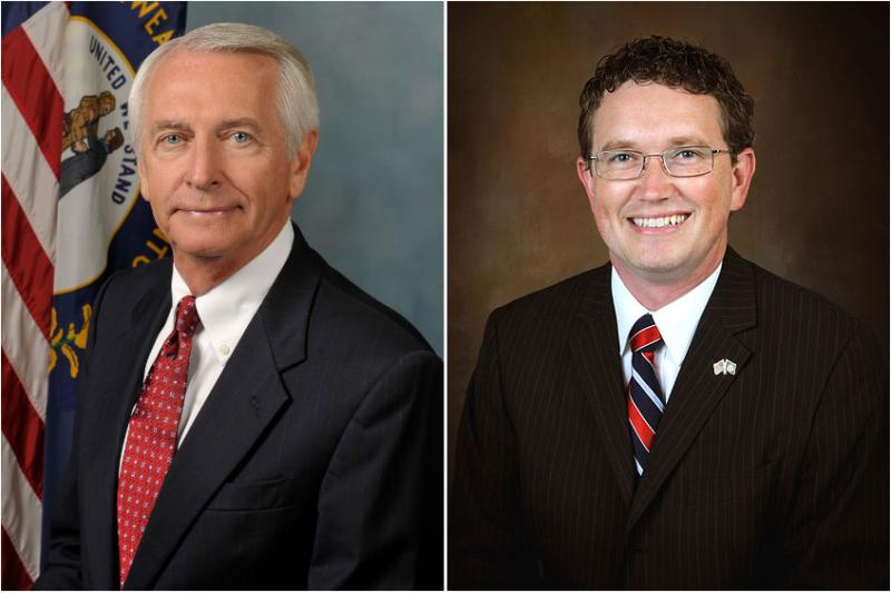 Gov. Steve Beshear (left) and U.S. Rep. Thomas Massie (R-Ky)