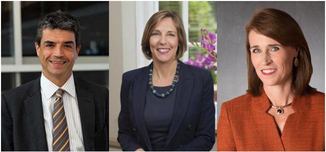 Provost finalists (l-r)  José Luis Bermúdez, Nancy Brickhouse, and Christine Riordan