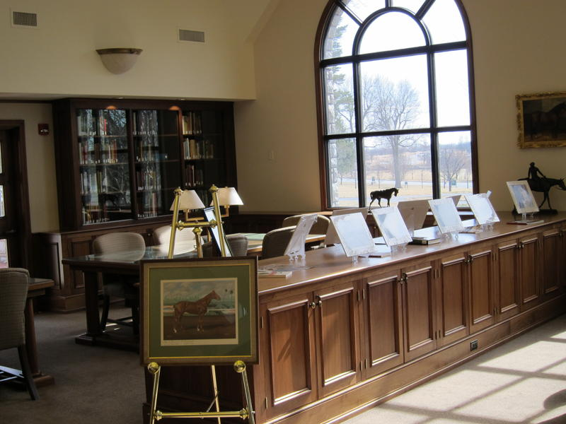 Part of Keeneland Library's Reading Room