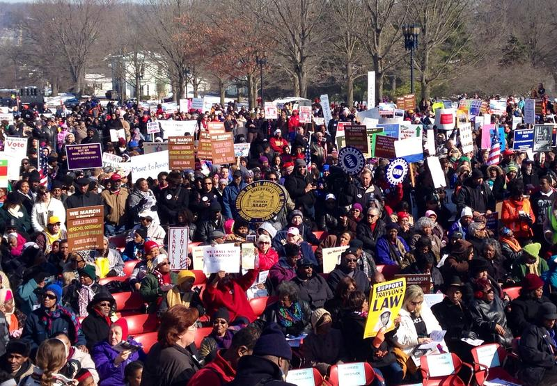 Hundreds gather for the 50th anniversary of the March on Frankfort
