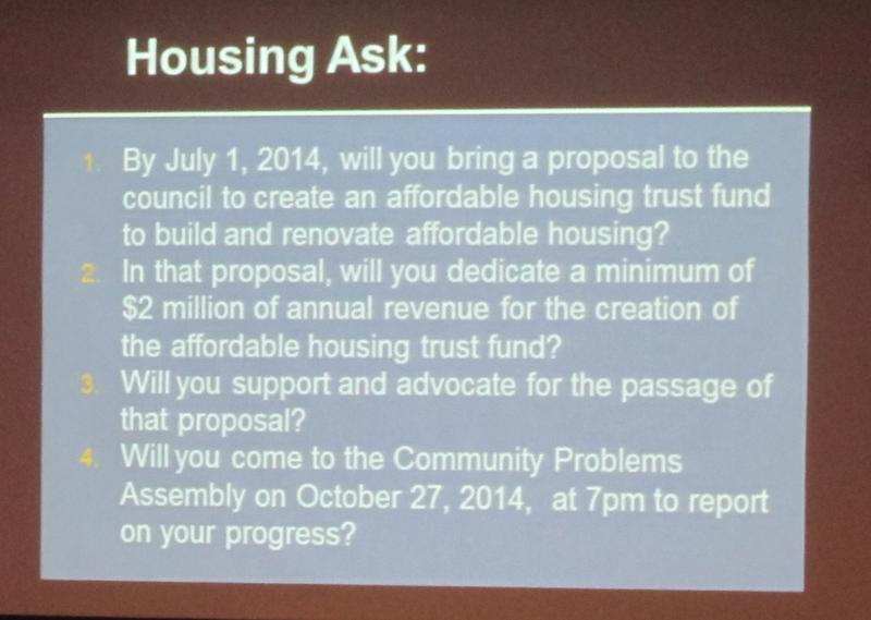 Steps Gray would take on Affordable Housing.