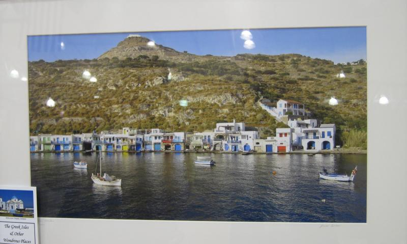 One of Professor Sisken's photograps, depicting the Greek island of Milos