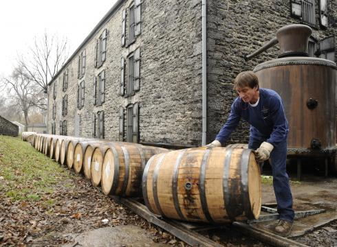 The Barrells Roll At Woodford Reserve Distillery